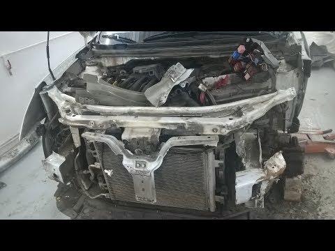 ремонт Nissan Almera после дтп смотрите....