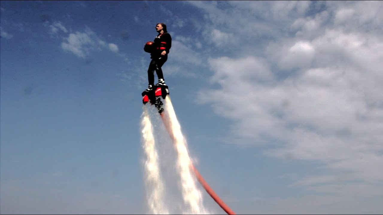 Water Jet Pack Basketball: Real Life Hover Board? - YouTube