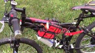 Homemade  Electric Bike $450 1000 Watt  48 V Electric Bicycle using Walmart Booster Batteries