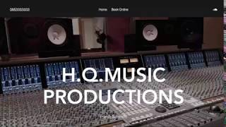 HQ Music Productions - Website scroll through