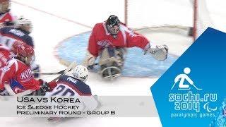USA vs Korea highlights   Ice sledge hockey   Sochi 2014 Paralympic Winter Games