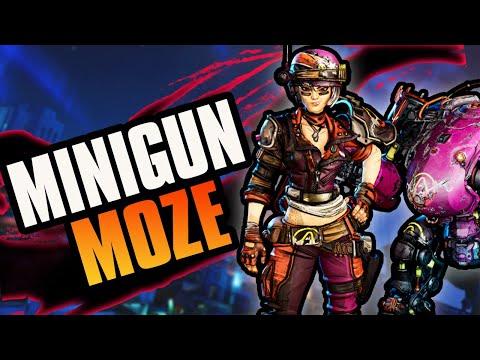 Borderlands 3 Minigun Moze! BEST Minigun Iron Bear Build +Game Save! |