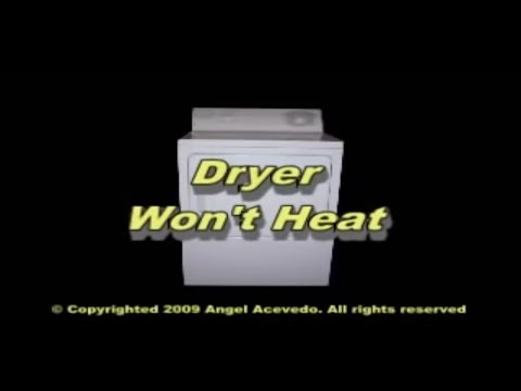 Not heating GE gas dryer - YouTube on