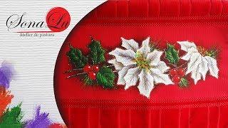 Flor Branca de Natal em Tecido por Sonalupinturas