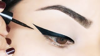 TOP 5 WINGED EYELINER HACKS TO TRY RIGHT NOW!! thumbnail