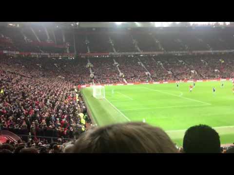 Man Utd fans sing we'll never die