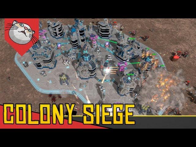 RTS e Tower Defense com BOSS FINAL - Colony Siege [Conhecendo o Jogo Gameplay Português PT-BR]