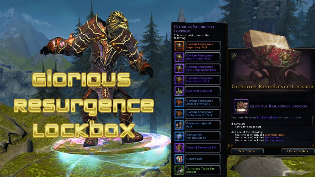 Neverwinter - Glorious Resurgence Lockbox Guide - YouTube