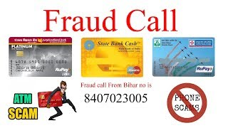 Attention ATM Fraud call || From Bihar || Hindi
