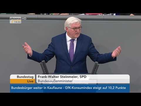 Letzte Rede von Außenminister Frank-Walter Steinmeier im Bundestag am 26.01.2017