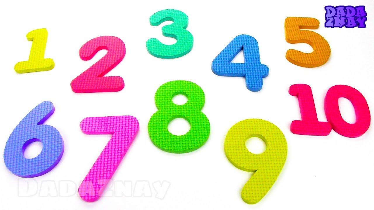 Учим цифры от 1 до 10|Учим геометрические фигуры для детей ...