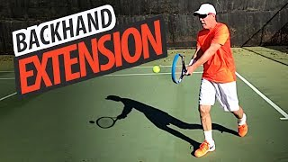 Greater Extension = NEXT LEVEL Tennis Backhand (Part 1 of 2)