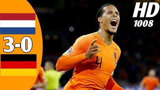Belanda Vs Jerman • Higlist Hd • 3-0 • Internasional Uefa