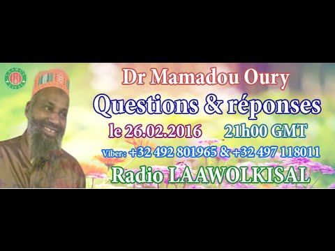 Dr. Mamadou Oury: Questions & Réponses #3 radio laawol kisal