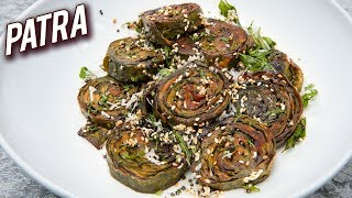 Homemade Gujarati Patra Recipe - How To Make Patra At Home - Traditional Gujarati Patra - Varun