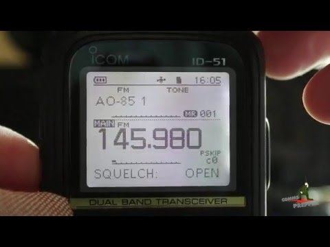 Satellite AO-85 (Fox-1A) Contact with Icom ID-51A Handheld