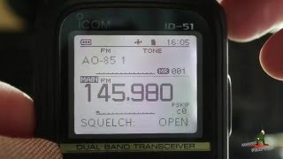 satellite ao 85 fox 1a contact with icom id 51a handheld