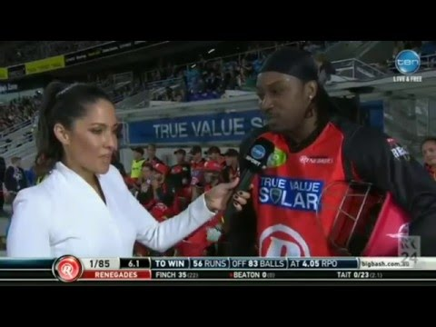 Chris Gayle and Mel Mclaughlin Interview Controversy - Double Standards