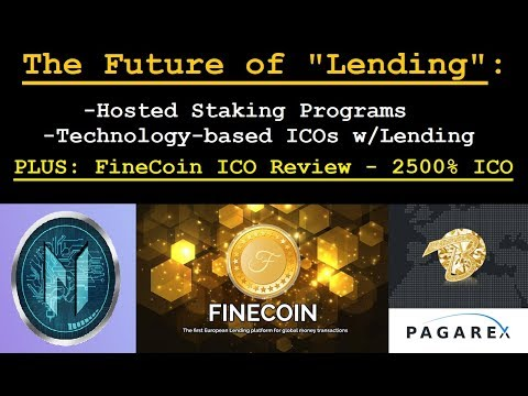 FineCoin Hosted Staking - Revolutionizing The Future of Lending ICOs | USA Friendly + Pure Returns