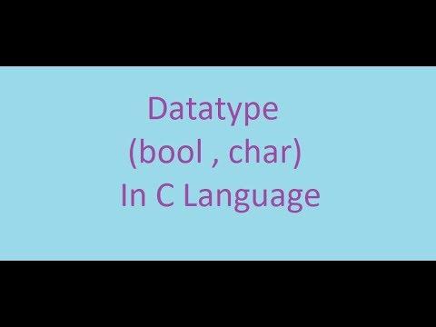 C Programming Course || 6#Datatype : bool , char (ARABIC)