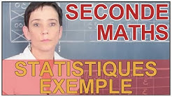 Statistiques - Exemple - Maths seconde - Les Bons Profs