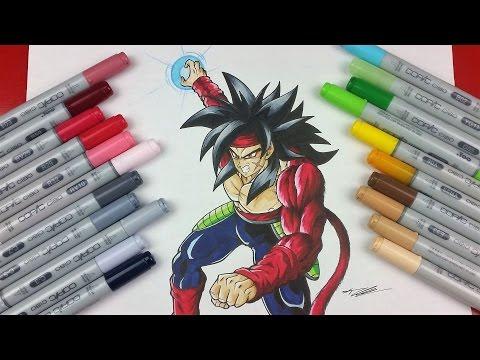 Drawing BARDOCK Super Saiyan 4   TolgArt