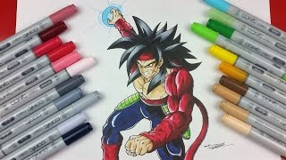 Drawing BARDOCK Super Saiyan 4 | TolgArt