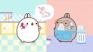 Molang - The Statue | #cutecartoon #funnycartoon Cartoon for...
