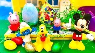 Swinka Peppa po Polsku - Swieta Wielkanoc i Myszka Miki i Smerfy (Smerfetka)