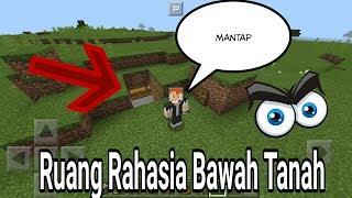 Cara membuat ruang rahasia bawah tanah di Minecraft PE Indonesia