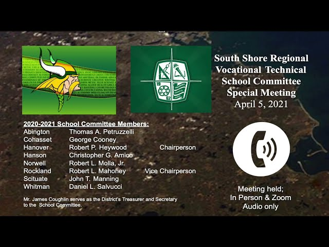 SSVT special School Committee; April 5, 2021