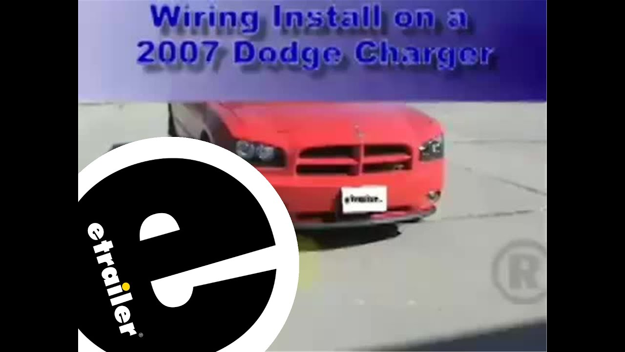 trailer wiring harness installation 2007 dodge charger etrailer rh youtube com Car Stereo Color Wiring Diagram Car Wiring Diagrams
