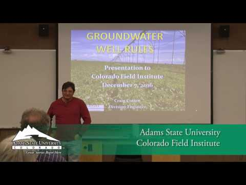 Groundwater Well Rules - Colorado Field Institute - Dec.7, 2016
