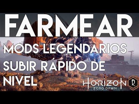 Horizon Zero Dawn - Subir rápido de nivel(30mil exp cada 10 mins) y Farming de Mods Legendarios