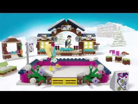 Lego Friends Snow Resort Ice Rink 41322 Youtube