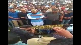 Funeral Prayers of Senior Journalist Syed Shujaat Bukhari at his ancestral graveyard in Kreeri   UNT