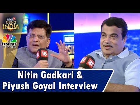 #News18RisingIndia: Nitin Gadkari & Piyush Goyal Interview (Exclusive) | CNBC TV18