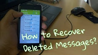 How to RECOVER Deleted Messages On Android (Hindi)