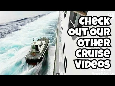 PILOT JUMPING OFF FAST MOVING CRUISE SHIP