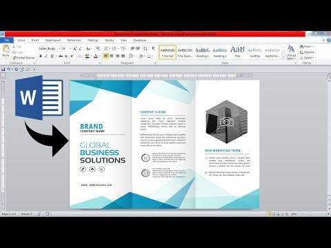 3 Fold Brochure Design In Microsoft Office Word || Brochure Design In Ms Word