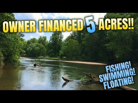 Fish, Swim And Canoe On Your Own 5 Acres! - 170' On River! - $500 Down ID#RN06B