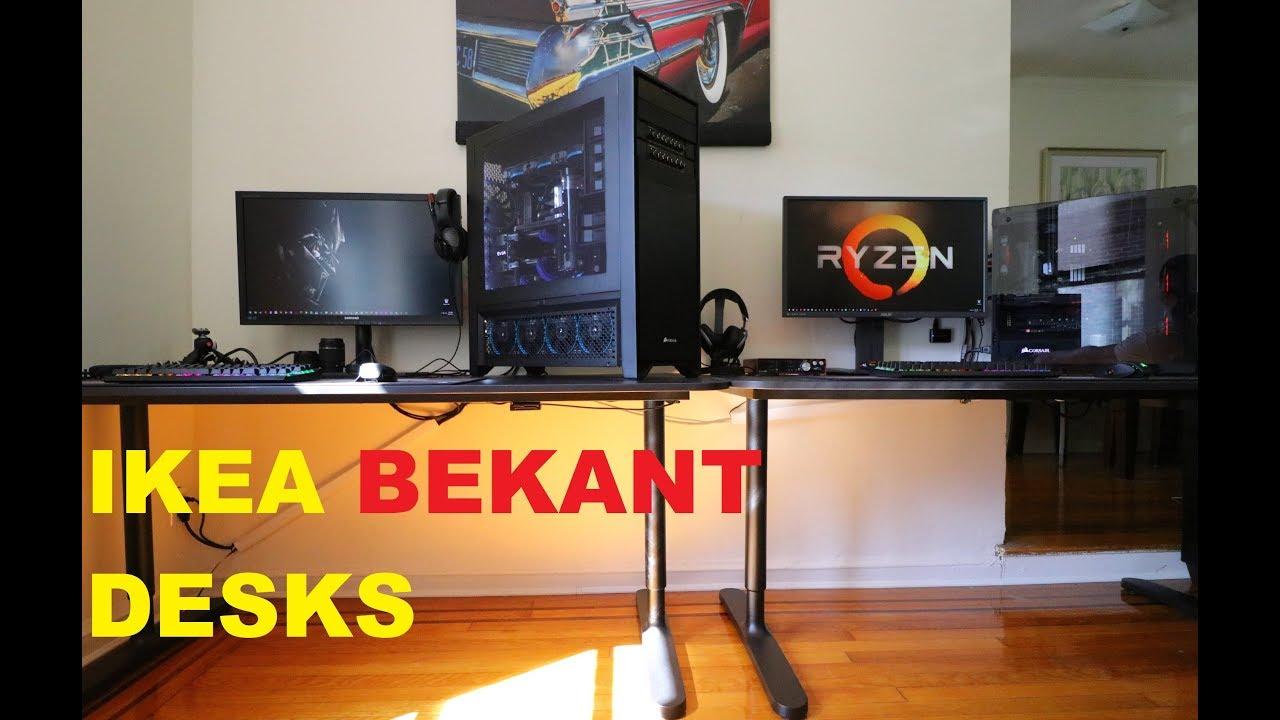 Bon IKEA BEKANT DESKS | Time Lapse Build/Setup