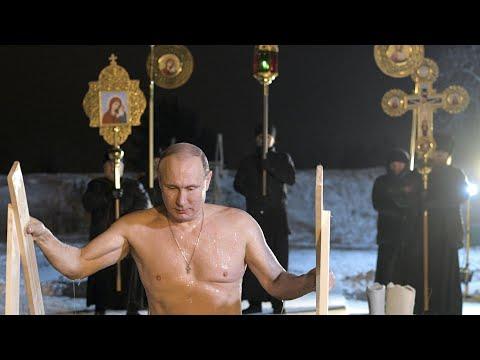 Russian president braves subzero lake to mark Orthodox Epiphany