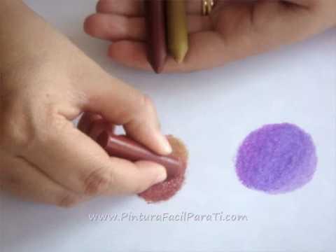 1 2 pintar y difuminar tecnica de ceras pintura facil for Pinturas para pintar