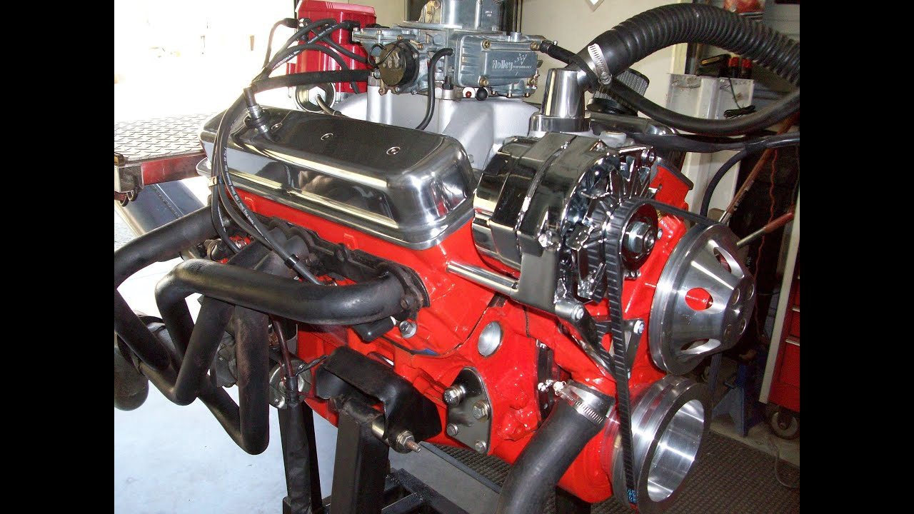 Rocket performance speed and custom performance engines 406 sbc on run stand