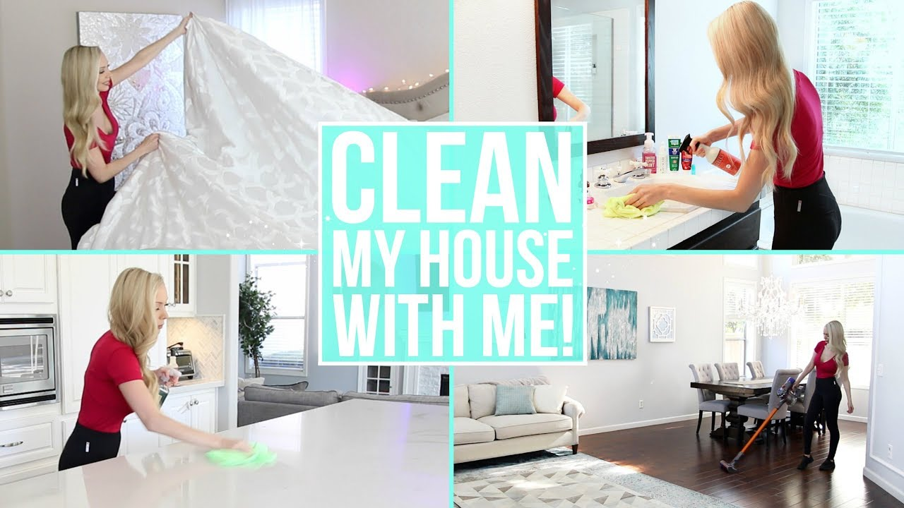 clean my entire house with me  cleaning motivation