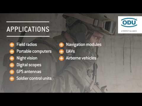 ODU AMC EASY-CLEAN Advanced Military Connector Solution