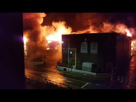 명례산업단지. 화재현장 1