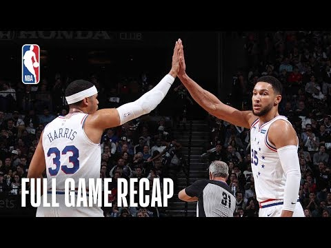76ERS vs NETS | Ben Simmons Records Playoff Career-High | Game 3