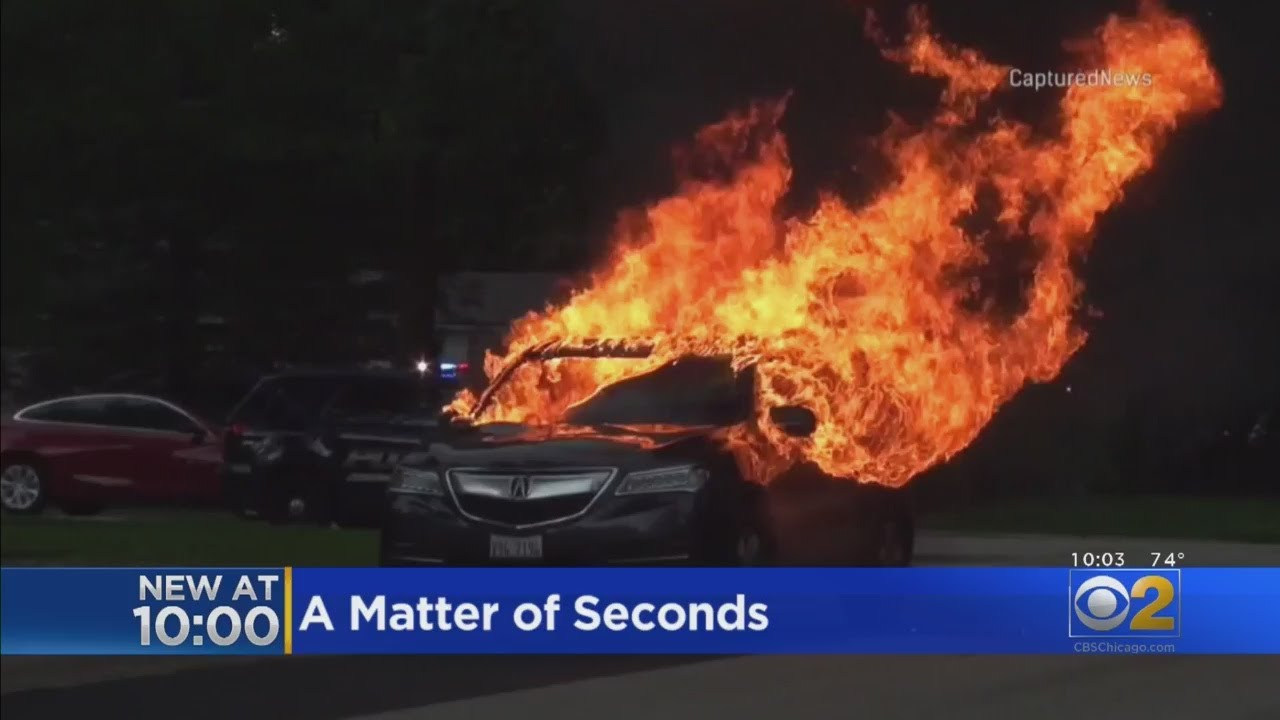Mom's Car Bursts Into Flames With Son Inside